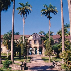 Historical Codrington College near St John's Church