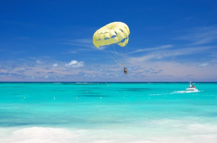 Parasailing in the Caribbean